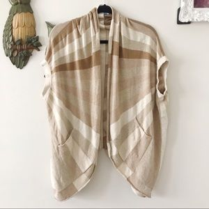 Anthropologie Sparrow lambs wool striped cardigan